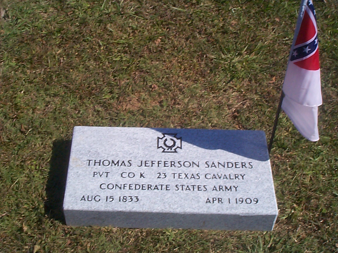 Thomas Jefferson Sanders, texas, confederate, veteran, veterans, titus ...